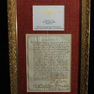 Autograph Signed as Cardinal Angelo De Medici on November 23rd, 1555