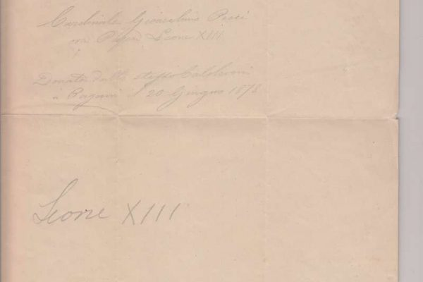 Untranslated Receipt  Signed by Pope Leo XIII  as Cardinal, 1862