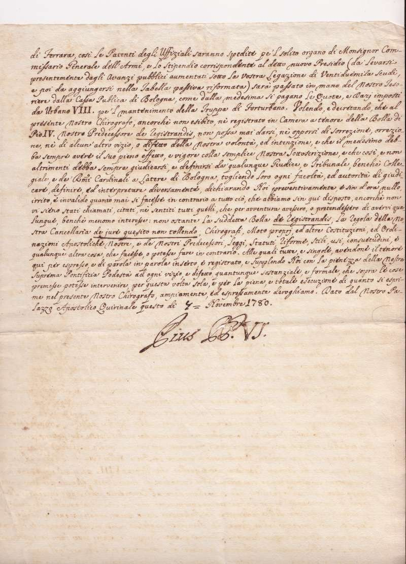 Three-Page Formal Document to A Cardinal (page 3)