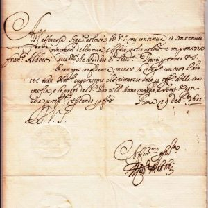 Christmas Greeting From Cardinal Pietro Ottoboni in 1672