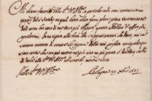 Document Signed by Pope Innocent XII as Cardinal, Dated 1685