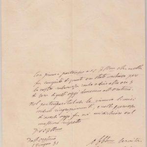 Letter Signed by St. John Bosco From 1851