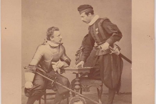 Two Swiss Guardsmen Posing For a Fight