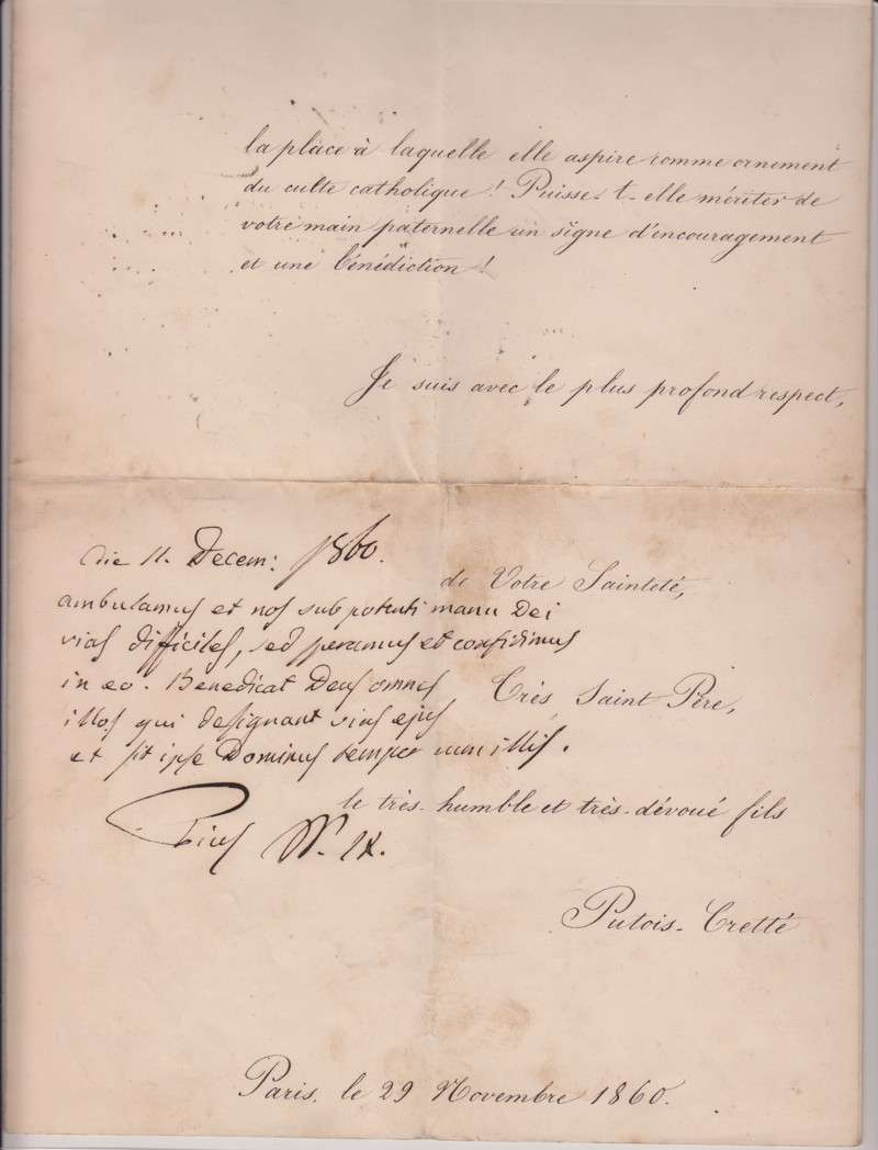Signed Letter, Dated 1860