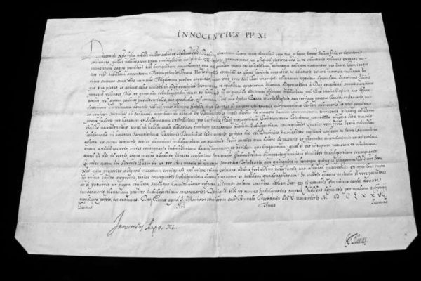 Untranslated Letter of Blessed Innocent XI, Dated 1677