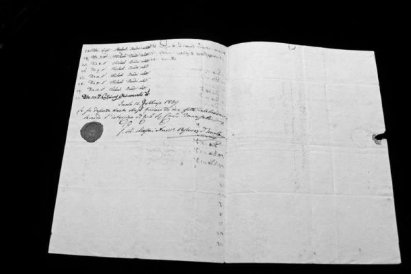 Record of Masses  Said by Pope Pius IX in 1839 As Bishop