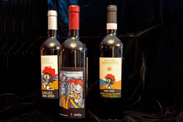 Three Bottles of Wine Commissioned For the 500th Anniversary of the Swiss Guard