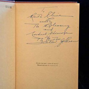 Autographed Copy of Peace of Soul, Published 1949