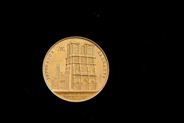 Commemorative Medallion (reverse side. Napoleon had the Pope carried off as a prisoner to France.
