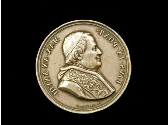 Commemorative Medal From the Pontificate of Blessed Pius IX
