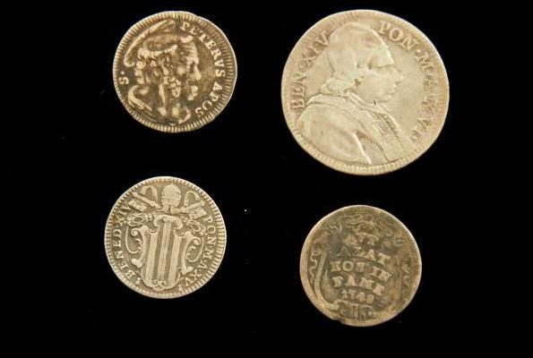 Four Silver Coins From the Pontificate of Benedict XIV
