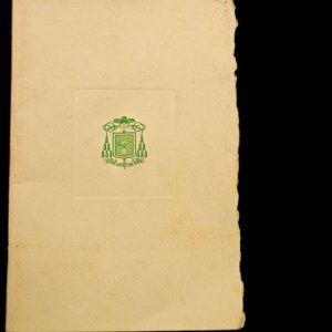 47-Page Program of the Installation of Fulton J. Sheen
