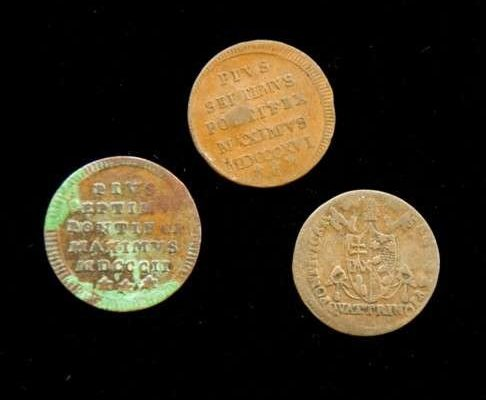Coins from the pontificate of Pius VII
