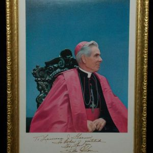 Autographed Color Photo of Bishop Fulton Sheen