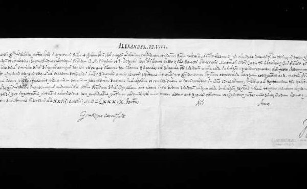 Brevis Signed by Pope Clement XI as  Cardinal Secretary of State