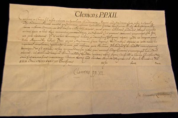 Autograph of Clement XII Signed as Pope