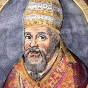Hand Colored Engraved Portrait of Pope Urban VIII from 1623