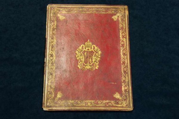 Bound Document With Coat of Arms of Pope Pius IX