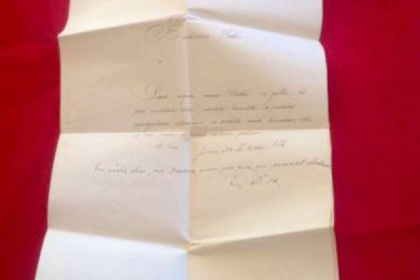 Note Requesting an Indulgence, Signed by Pope Pius IX