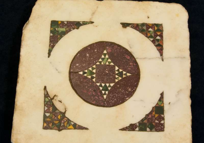 Floor Tile from a 13th Century Bishop's Chapel in Naples