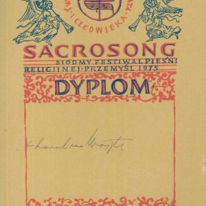Diploma from the Polish Festival of Sacrosong, Dated 1975, Signed by Karol Wojtyla