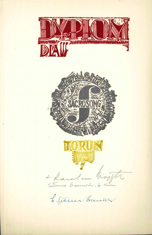 Diploma from the Polish Festival of Sacrosong, Dated 1973, Signed by Karol Wojtyla