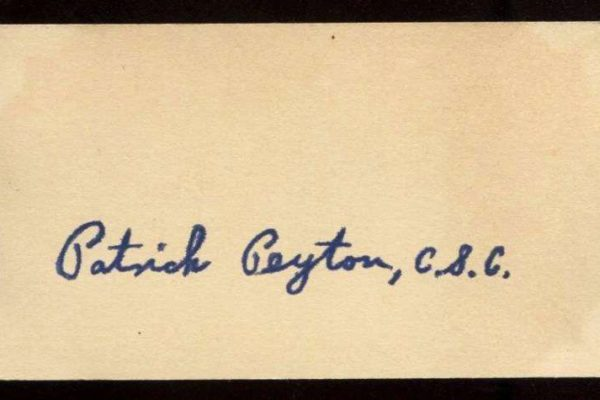 Rare Autograph of Father Patrick Peyton