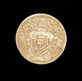 Silver Coin From the Pontificate of Clement XIII