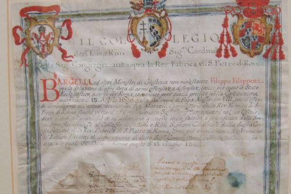 License Issued to Carry a Weapon During Pontificate of Pius VII