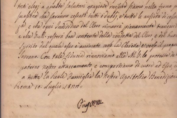 Untranslated Four-Page Document, Signed by Pope Pius VII