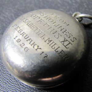 rosary case (without the rosary) given by Pope Pius XI on February 17, 1926