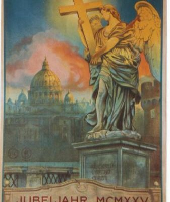 An Original Travel Poster from the 1925 Holy Year,  Pontificate of Pope Pius XI