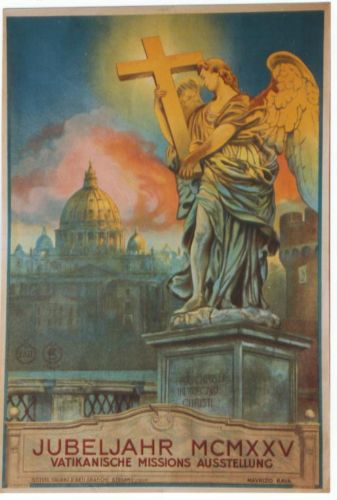 Poster from 1925 Holy Year during pontificate of Pope Pius XI