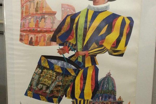 An Original Travel Poster from the Pontificate of Saint John XXIII