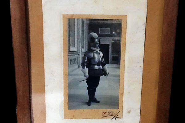Signed Photograph of the Vatican Swiss Guard Commander in 1930
