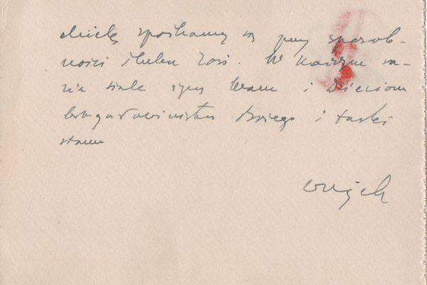 """Note Card Written Entirely in Saint John Paul II's Own Hand, & Signed, """"Wujek"""" (Uncle)"""