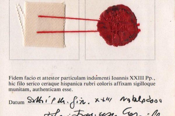 Relic of Pope Saint John XXIII