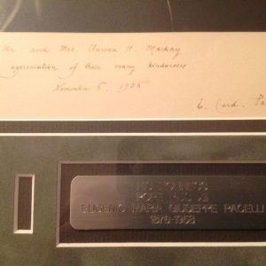 Frame Photo of Pius XII as Eugenio Card. Pacelli