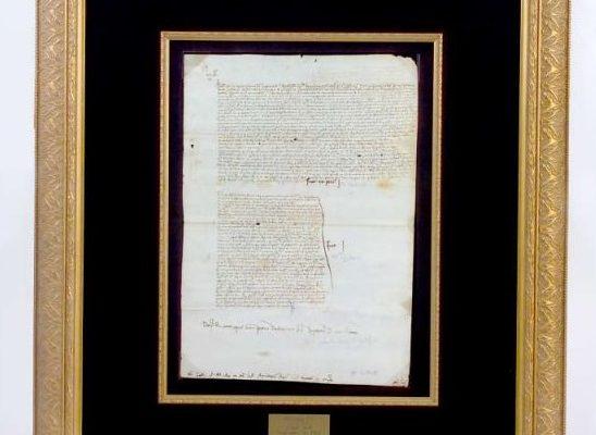 Papal Fiat With Signature of Julius II