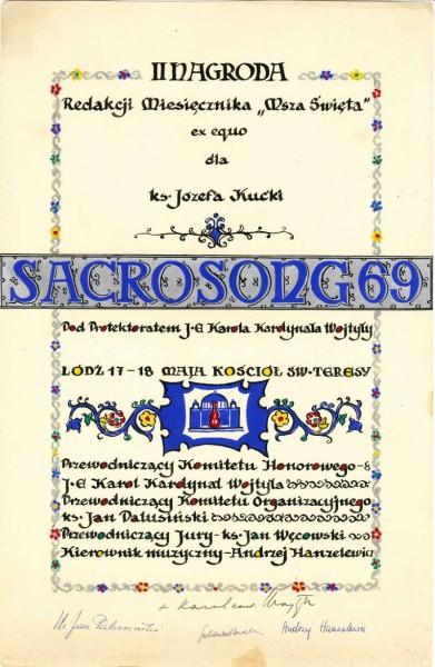 Original Sacrosong Diploma