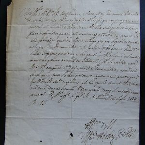 Pope Alexander Signed Document as Cardinal Ottoboni