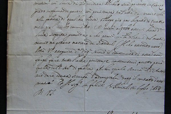 Pope Alexander VIII: A  Document Signed as Cardinal Ottoboni