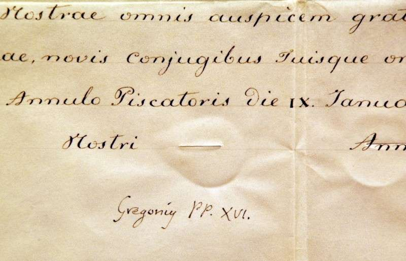 Apostolic Blessing Upon the Marriage of the Princess of Naples, Signed
