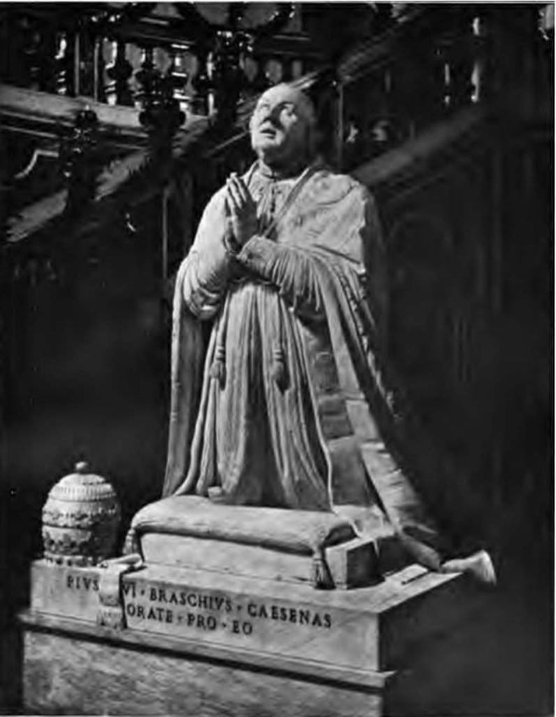 Tomb Monument of Pope Pius VI in St. Peter's Basilica
