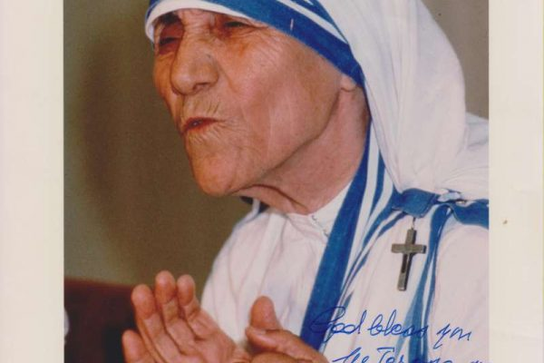 Eight-by-Ten Color Photo of Blessed Mother Teresa of Calcutta, Signed