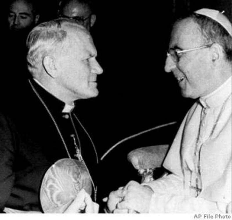 Pope John Paul I and Cardinal Karol Wojtyla