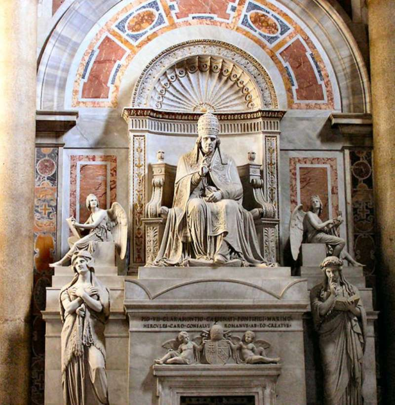 Tomb of Pope Pius VII in St. Peter's Basilica