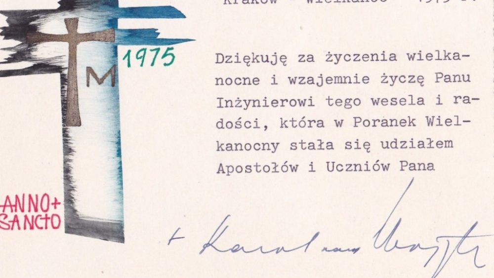 Signed Easter Card from Cardinal Karol Wojtyla