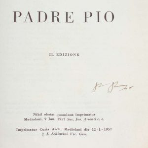 St. Padre Pio of Pietrelcina: An Undated Booklet in Italian, Signed