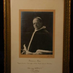 Autographed Blessing of Pius XI